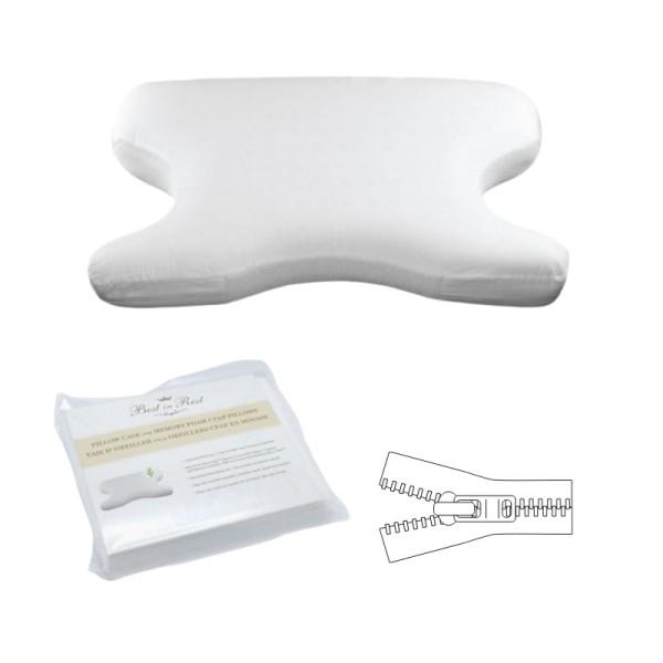 CPAP Kissenbezug für CPAP-Memory-Schaum-Kissen mit Reißverschluss