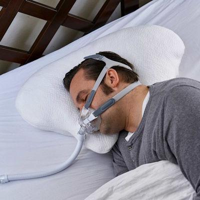 CPAP Kissen Lina CPAP Maske Seitlich