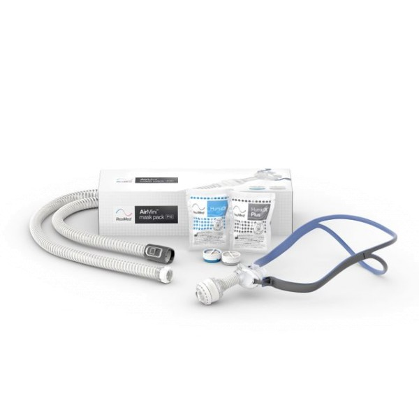 ResMed AirMini AirFit P10 Masken-Set inkl. AirFit P10 CPAP Maske, Schlauch, HumidX & HumidX PLUS