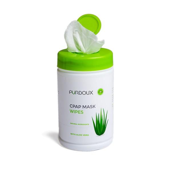 Pürdoux CPAP Masken Reinigungstücher Aloe Vera 70 Stück