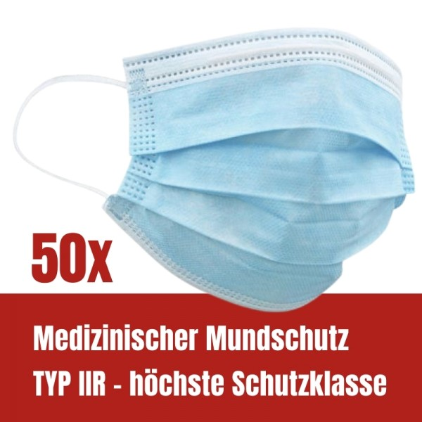 Medizinischer Mundschutz medizinische Maske OP-Maske TYP IIR - höchste Schutzklasse