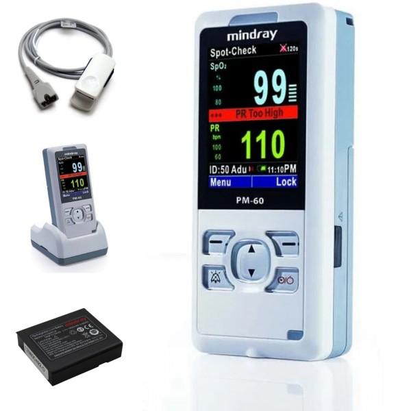 Mindray PM60 Pulsoximeter inkl. Fingerclipsensor und Ladeset