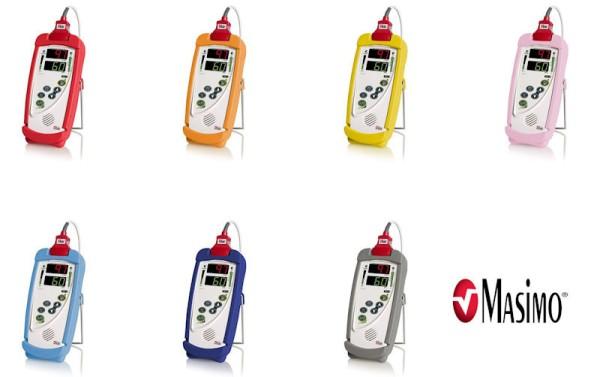 Masimo Pulsoximeter Schlagschutzhülle mit Halterung Standfuss für RAD-5, RAD-5v, Pronto und RAD-57