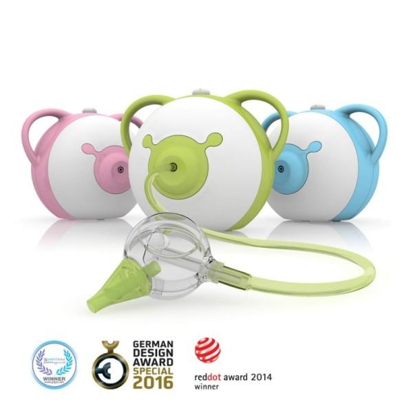 nosiboo PRO elektrischer Nasensauger für Babys ab 0 Monate bis 6 Jahre in grün, blau oder pink