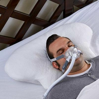 CPAP Kissen Lina CPAP Maske Rueckenlage