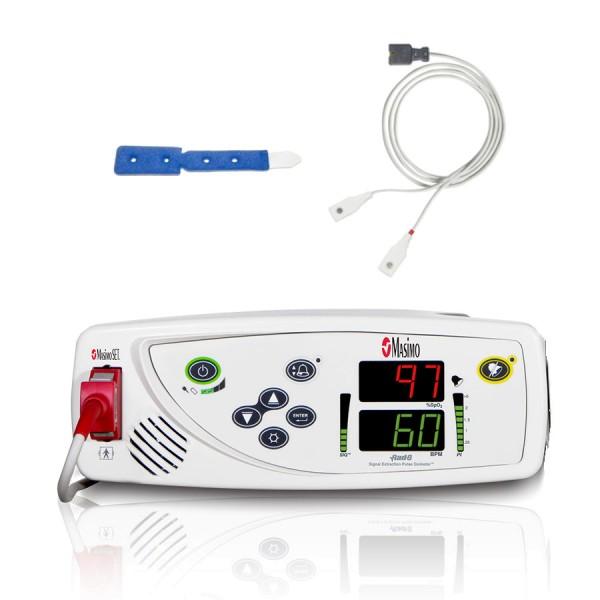 Masimo RAD-8 SpO2 Pulsoximeter inkl. Universal Y-Sensor und Posey Wraps
