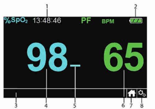 PM100N Display Beschreibung