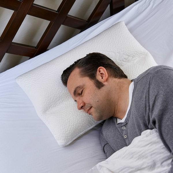 Komfort Kopfkissen DAVID ergonomisch und variabel seitlich Nahansicht