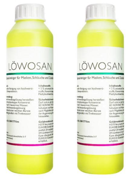 2x Löwosan CPAP Spezialreiniger je 250 ml CPAP Reinigung von Löwenstein Medical