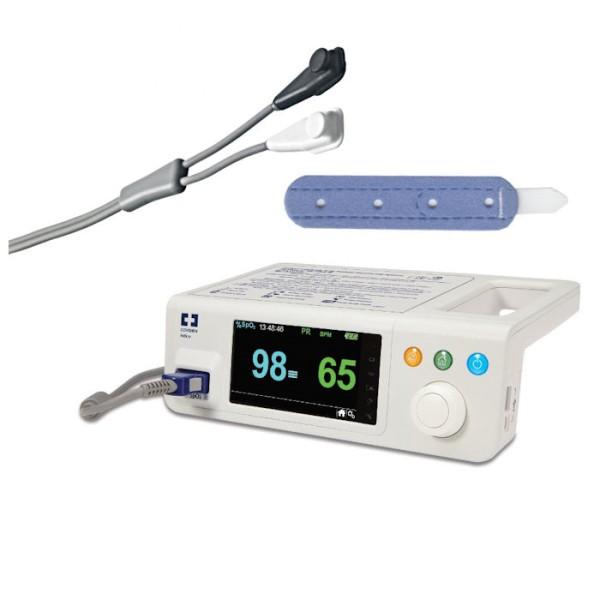 Nellcor PM100N bettseitiges SPO2 Pulsoximeter inkl. Universal Y-Sensor und Posey Wraps