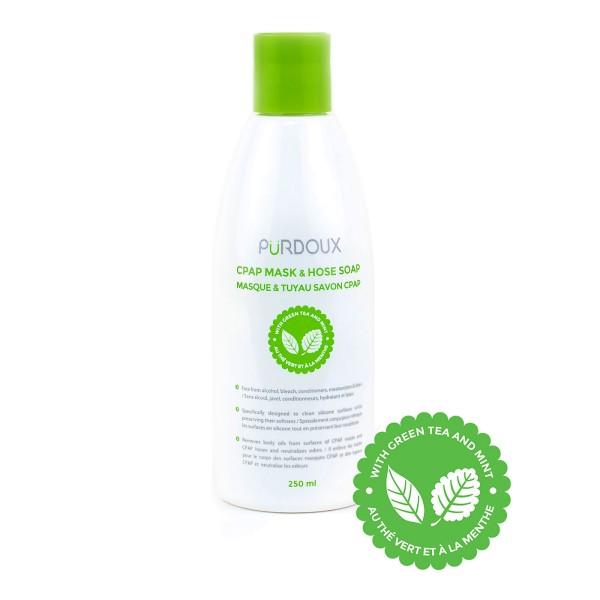 Pürdoux CPAP Reinigungsmittel Grüner Tee & Minze für Maske & Schlauch