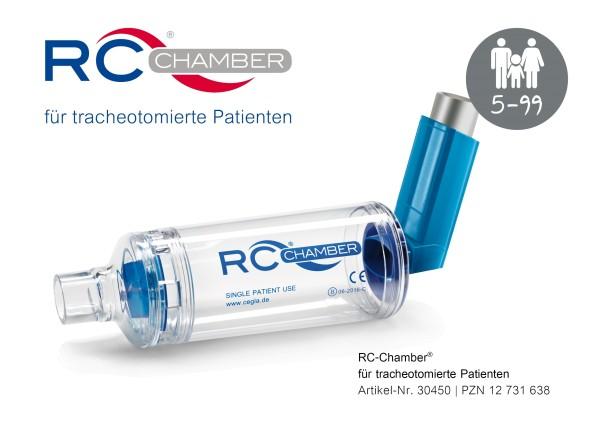 RC-Chamber für Dosieraerosole für tracheotomierte Patienten