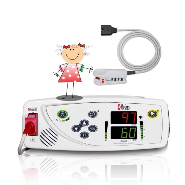 Masimo RAD-8 SpO2 Pulsoximeter inkl. LNCS DCI-P Fingerclipsensor für Kinder