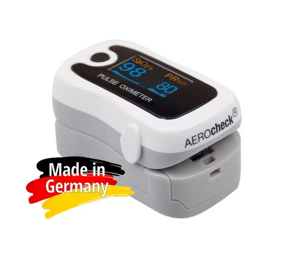 AEROcheck ® Fingerpulsoximeter SpO2 und Pulsfrequenz Made in Germany