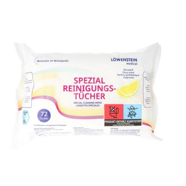 Löwenstein Medical CPAP Reinigungstücher ZITRUS 72 Stück im Soft-Pack